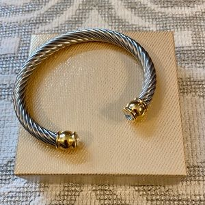 Two Tone Cuff Cable Bracelet- Never Worn!